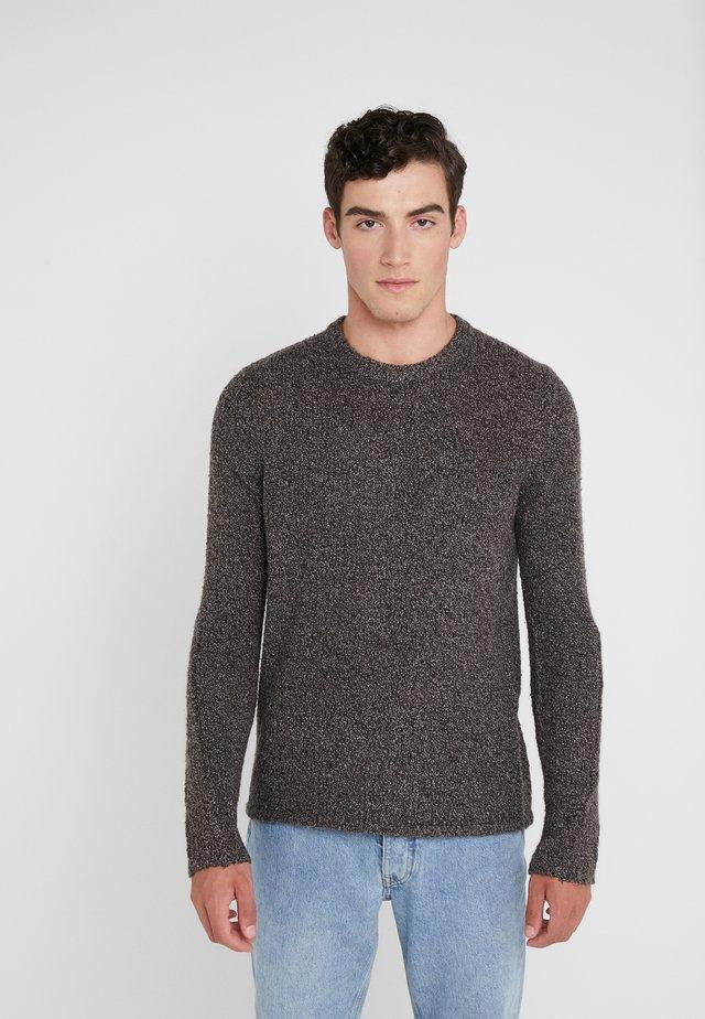 TEXTURED CREW - Jersey de punto - black