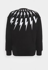 Neil Barrett - FAIR ISLE THUNDERBOLT - Sweatshirt - black/white - 7