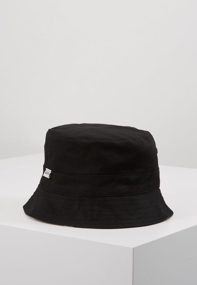 REVERSIBLE BUCKET HAT - Hoed - black