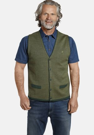 TANE - Waistcoat - grün gemustert