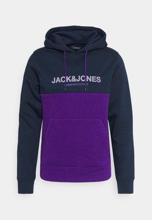 JJEURBAN BLOCKING HOOD - Sweatshirt - navy blazer