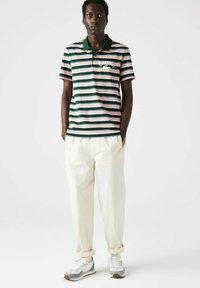 Lacoste - Polo shirt - grün/ blau/ rosa/ beige/weiß - 0