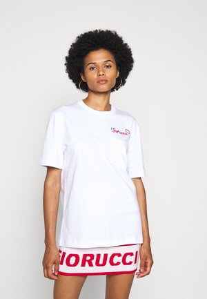 EMBROIDERED LOGO TEE - T-shirt con stampa - white