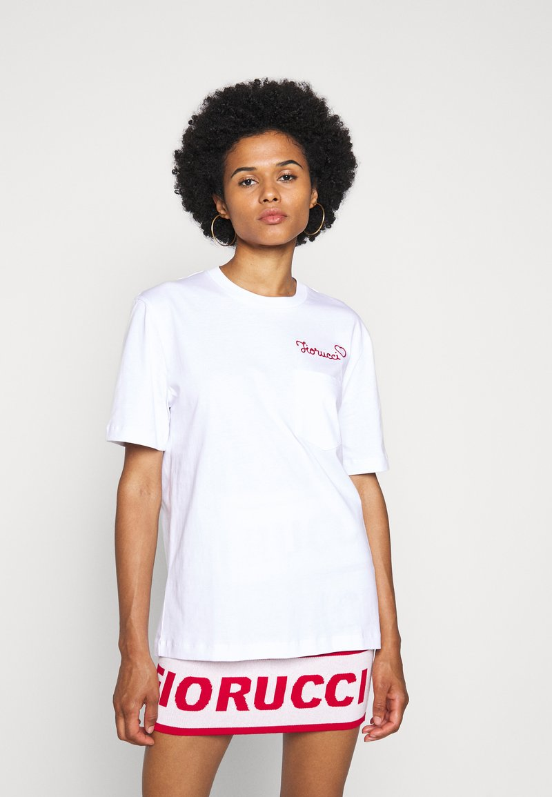 Fiorucci - EMBROIDERED LOGO TEE - T-shirt con stampa - white