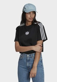 adidas Originals - LOOSE FIT TEE - T-shirt con stampa - black - 3