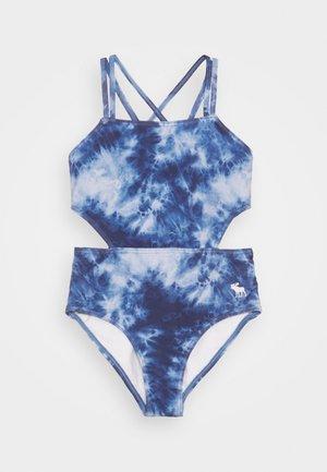 KEYHOLE HALTER - Swimsuit - blue