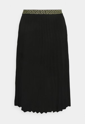 PLEATED SKIRT WITH WAISTBAND - Pleated skirt - black