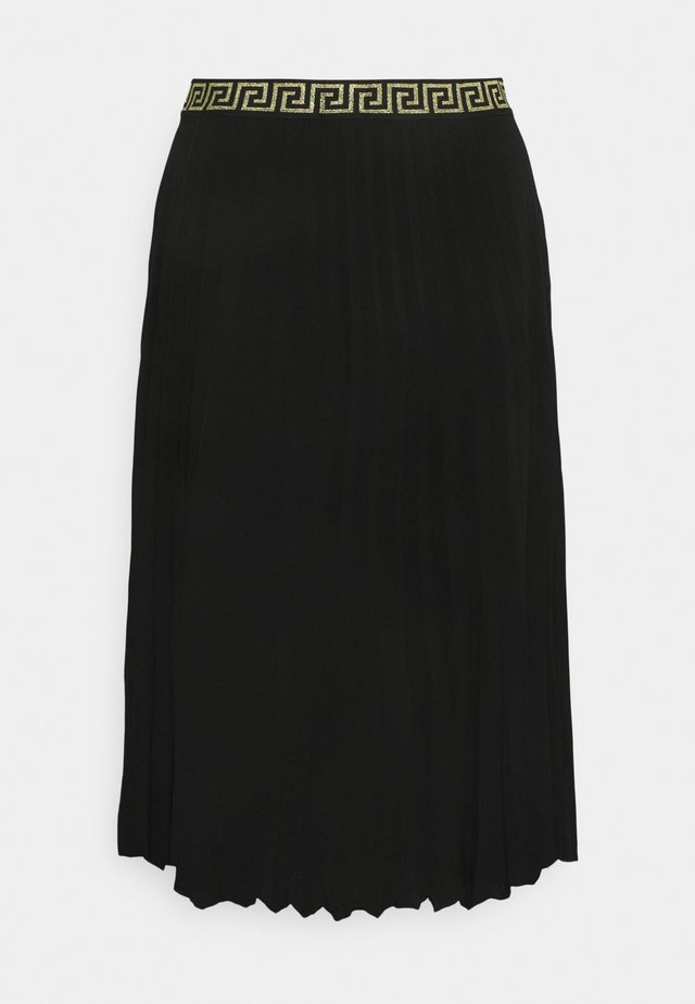 PLEATED SKIRT WITH WAISTBAND - Jupe plissée - black