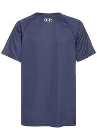 Under Armour - TECH HYBRID LOGO UNISEX - Print T-shirt - blue ink/x-ray - 1