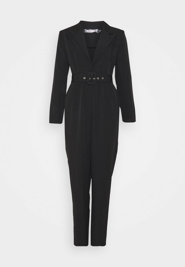 TAILORED BELTED JUMPSUIT - Jumpsuit - black