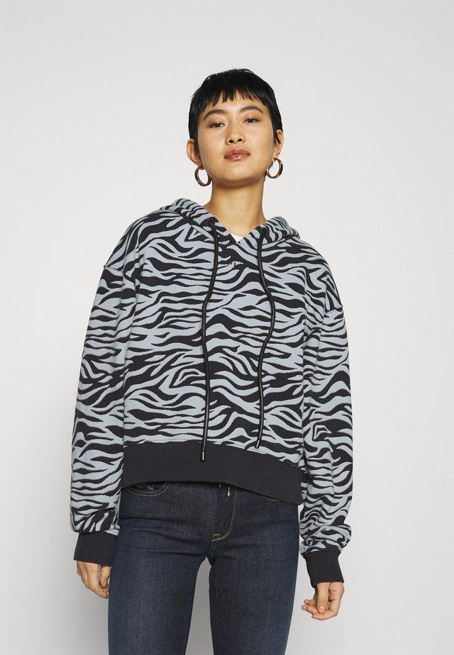 Bluza z kapturem - black/light grey