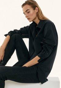 Massimo Dutti - Button-down blouse - black - 6