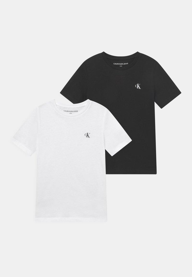 Calvin Klein Jeans - MONOGRAM 2 PACK - T-shirt basique - white/black