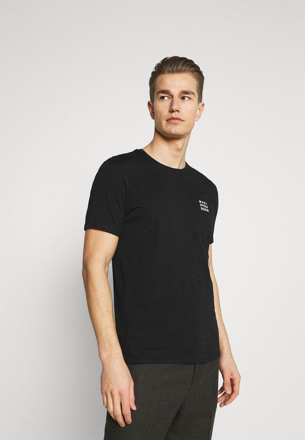Marc O'Polo DENIM SMALL CHEST LOGO 2 PACK - T-shirt basic - black / olive/czarny Odzież Męska ABJW