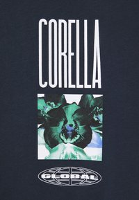 CORELLA - UNISEX  ORCHID DESIGN - Printtipaita - navy - 2