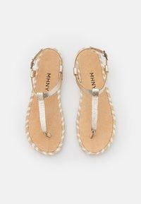 MAHONY - T-bar sandals - gold - 5