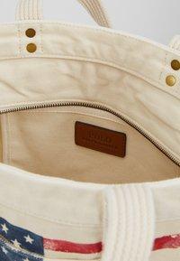 Polo Ralph Lauren - FLAG TOTE - Shopping Bag - ecru - 4
