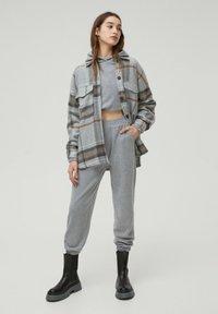 PULL&BEAR - Košile - mottled grey - 1