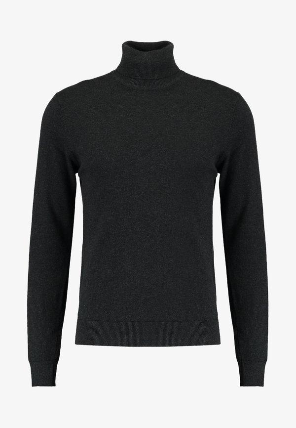 Pier One Sweter - mottled dark grey/ciemnoszary melanż Odzież Męska TVKH