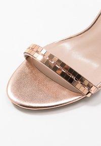 Dorothy Perkins - SLING PRETTY TRIM MID HEIGHT  - Sandaler med høye hæler - rose gold - 2