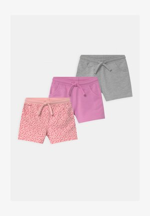 3 PACK - Shorts - grey/pink/purple