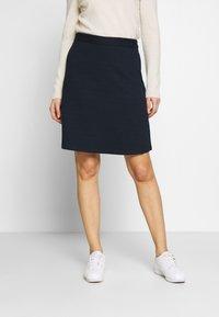 TOM TAILOR - SKIRT - A-line skirt - sky captain blue - 0