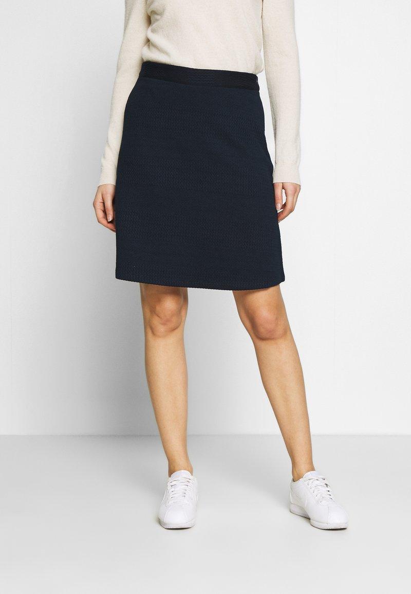 TOM TAILOR - SKIRT - A-line skirt - sky captain blue