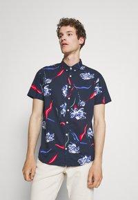 Kronstadt - JOHAN SUMMER SHIRT - Shirt - dark blue - 0