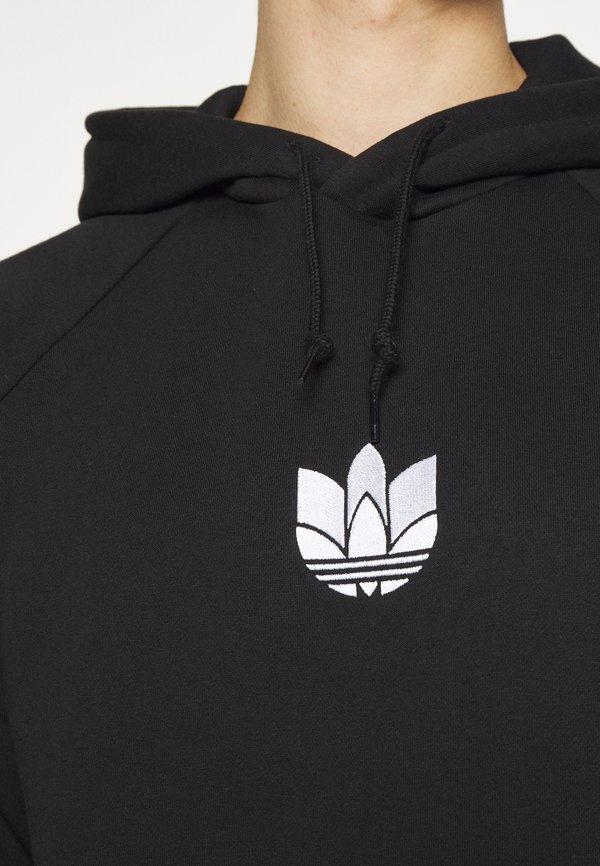 adidas Originals TREFOIL HOOD UNISEX - Bluza - black/czarny Odzież Męska JIQR
