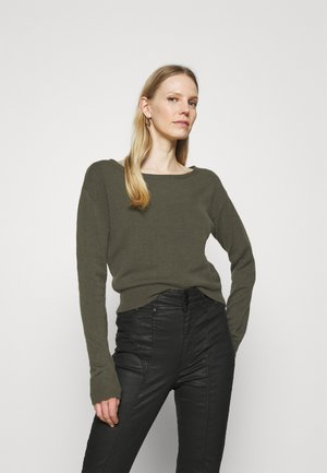 TANYA BOAT NECK - Jumper - asphalt grey