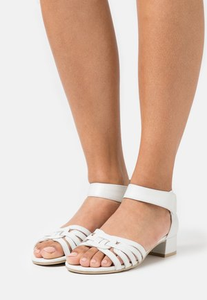 Sandalias - white perlato
