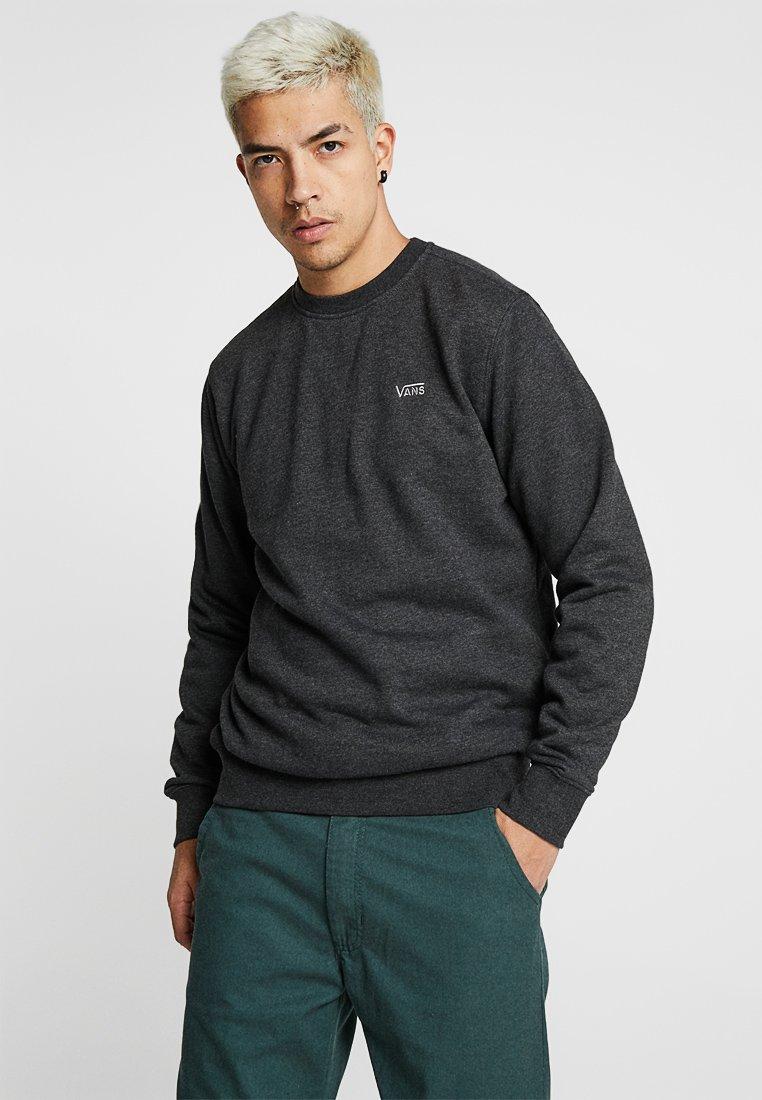 Vans - MN BASIC CREW FLEECE - Sweater - black heather
