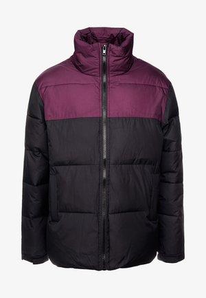 BLOCK FUNNEL PUFFER - Giacca invernale - black/purple