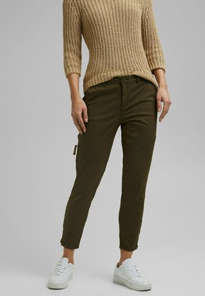 Cargo trousers - khaki green