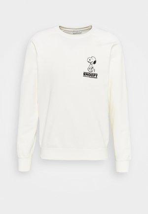 CREW SNOOPY UNISEX - Sweatshirt - blanc