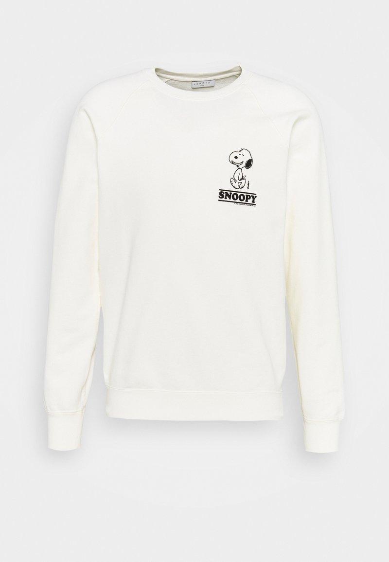 sandro - CREW SNOOPY UNISEX - Sweatshirt - blanc