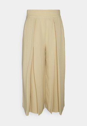 TRIPLE GEORGETTE PANT - Trousers - tan