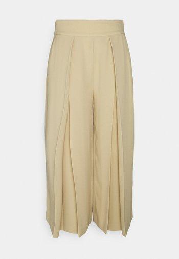 TRIPLE GEORGETTE PANT - Kalhoty - tan