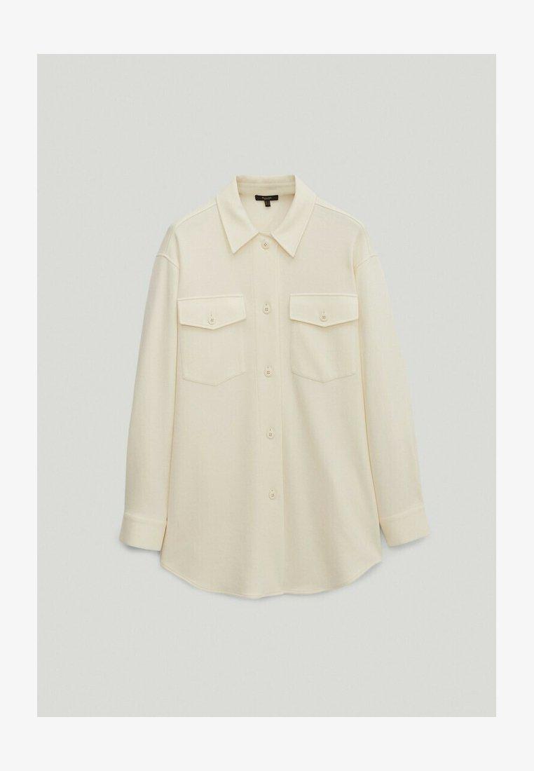 Massimo Dutti - MIT TASCHEN  - Summer jacket - white