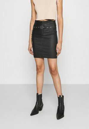 CORSET BELT MINI SKIRT - Mini skirt - black