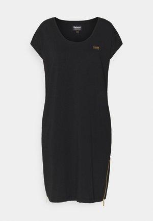 PACE DRESS - Jersey dress - black