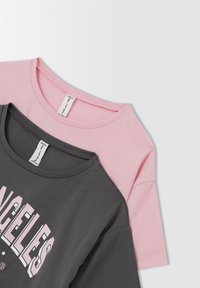 DeFacto - 2 PACK - Print T-shirt - grey - 5