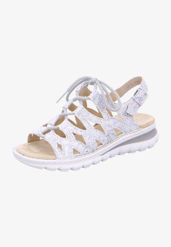 TAMPA - Walking sandals - silber