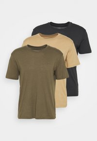 MIXED COMBO MILITARY 3 PACK - Basic T-shirt - khaki