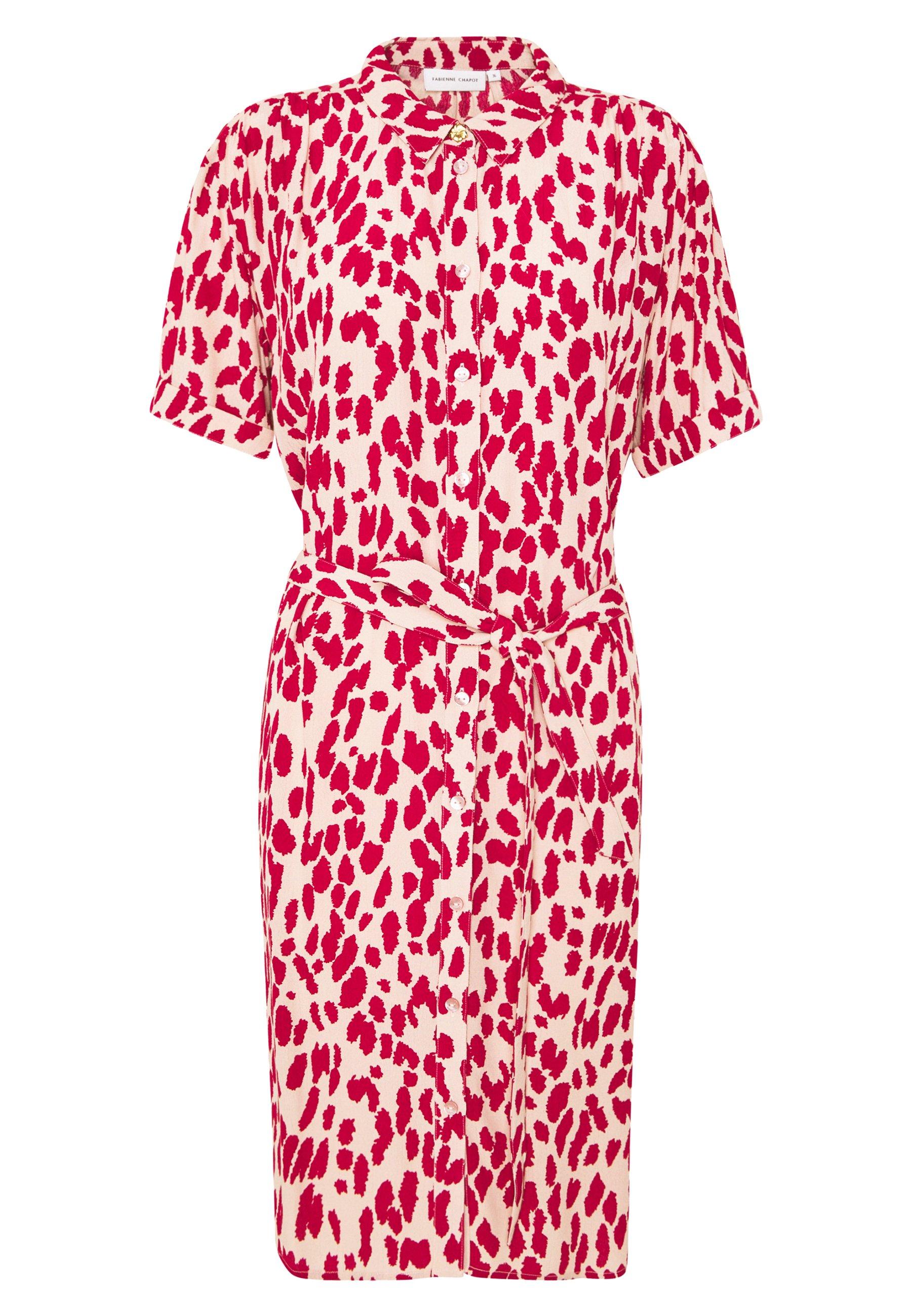 Fabienne Chapot BOYFRIEND ISA DRESS - Kjole - frutti red/cream white