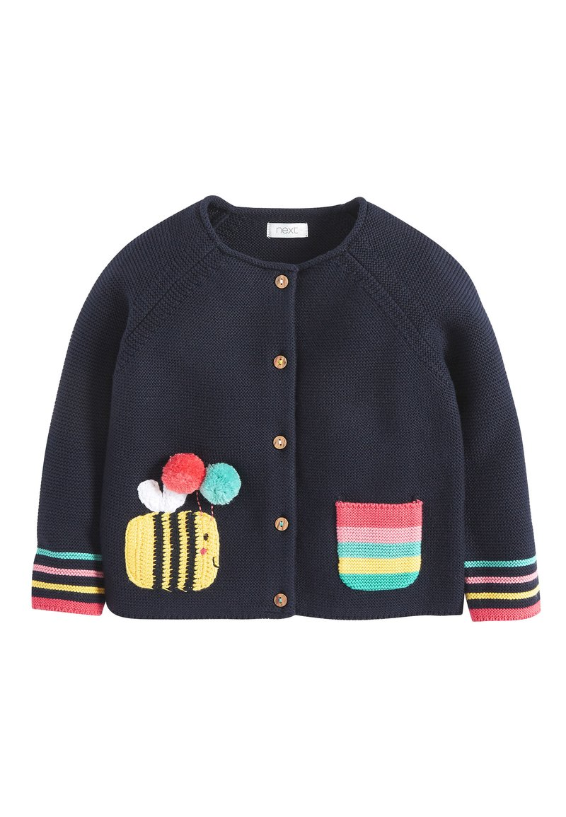 Next - NAVY BUMBLE BEE CARDIGAN (3MTHS-7YRS) - Cardigan - blue