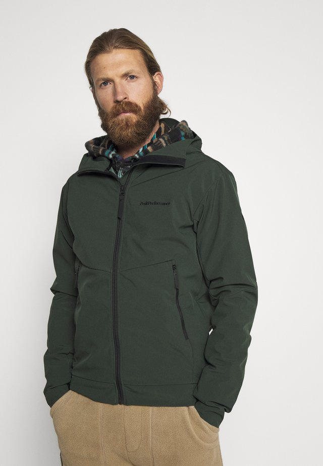 ADVENTURE HOOD JACKET - Outdoor jacket - drift green