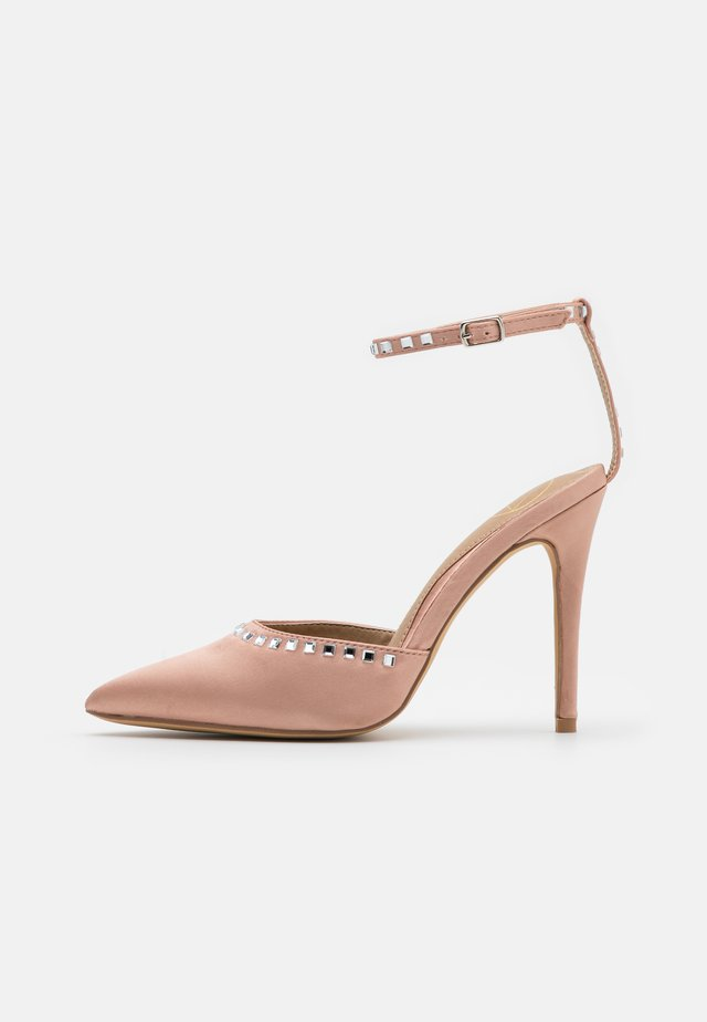 TRIM HEELED SHOES - Zapatos altos - champagne