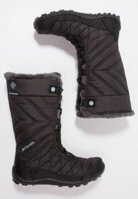 Columbia - YOUTH MINX MID III WP OMNI-HEAT - Winter boots - black/iceberg - 0