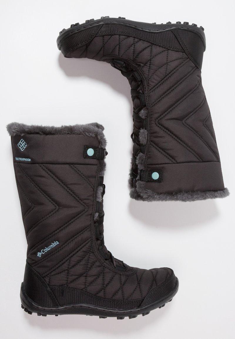 Columbia - YOUTH MINX MID III WP OMNI-HEAT - Winter boots - black/iceberg
